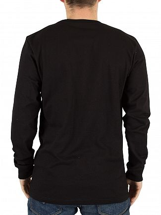 Carhartt WIP Black/Gold Chase Longsleeved Loose Fit Logo T-Shirt