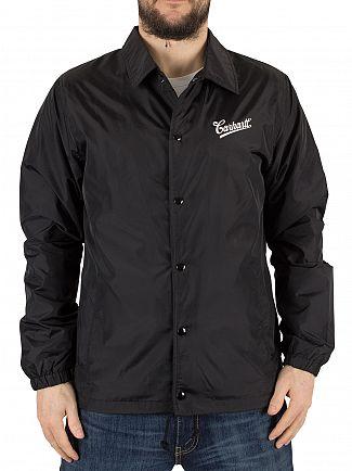 Carhartt WIP Black/White Strike Coach Logo Button Jacket