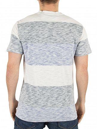 G-Star Milk/Mazarine Blue Brallio Stripe Marled Logo T-Shirt