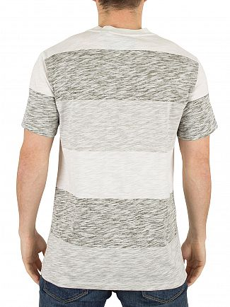 G-Star Milk/Grey Brallio Striped Marled Logo T-Shirt