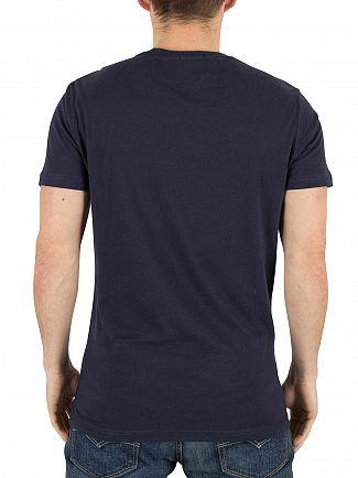 Hilfiger Denim Black Iris Navy Basic Denim USA Graphic T-Shirt