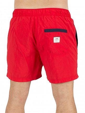 Hilfiger Denim High Risk Red Solid Logo Swimshorts