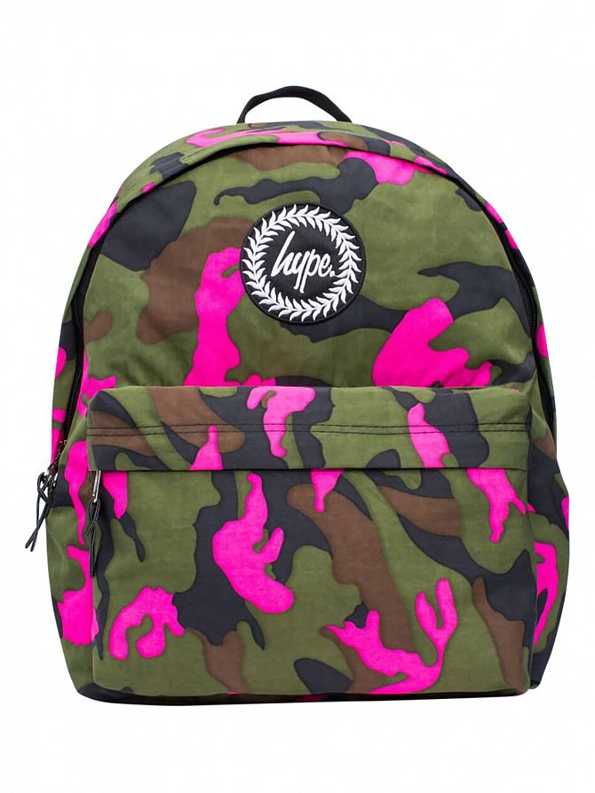 Hype Green/Pink Camo Vida Print Logo Backpack
