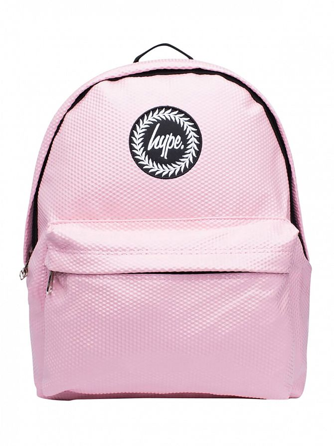 Hype Pink Cubist Textured Logo Backpack