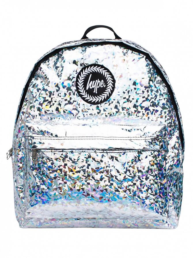 Hype Silver Galvanised Logo Backpack
