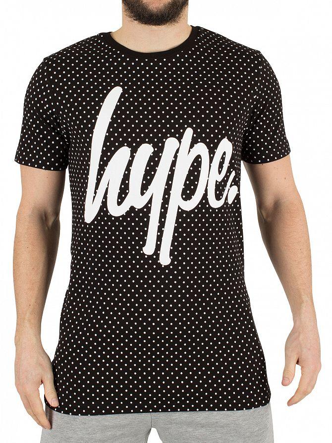 Hype Black/White Polka Dot Graphic T-Shirt