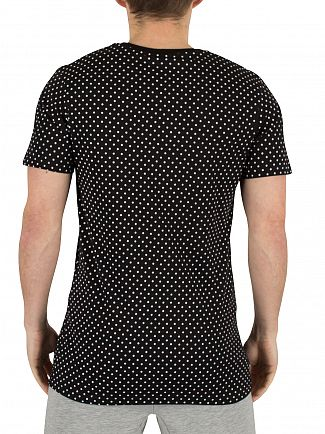 Hype Black/White Polka Dot Graphic T-Shirt