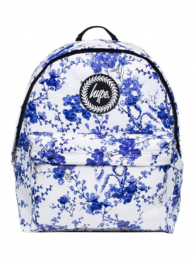 Hype White/Blue Real China Logo Backpack