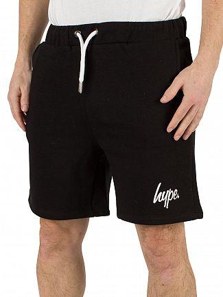 Hype Black/White Script Logo Shorts
