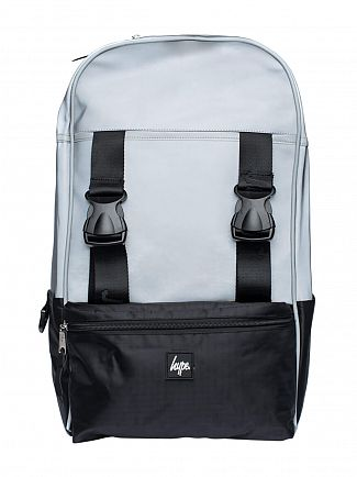 Hype Black/Silver Traveller Reflective Logo Backpack