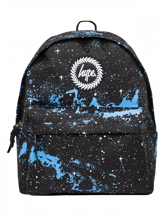Hype Black/White/Blue Universe Logo Backpack