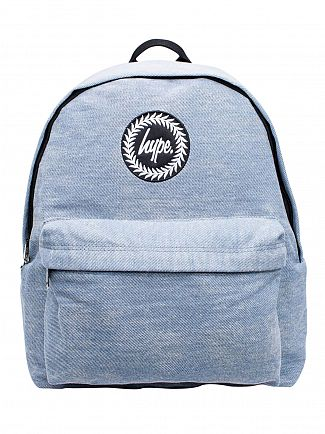 Hype Blue Wash Denim Logo Backpack