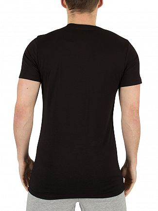 Hype Black Zaharias Zip Pocket Logo T-Shirt