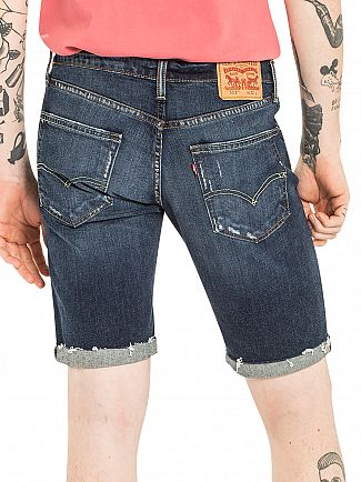 Levi's Mid Blue 511 Cutoff The Knack Denim Shorts