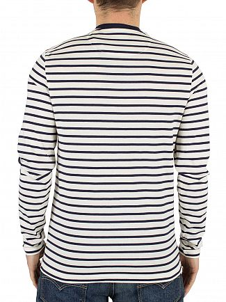 Lyle & Scott Off White Bretton Longsleeved Striped T-Shirt