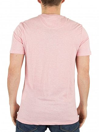 Lyle & Scott Soft Pink Marled Logo T-Shirt