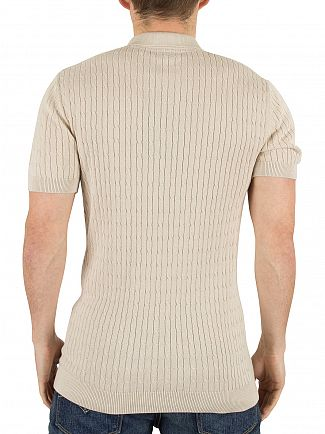 Minimum Oister Grey Mel Bay Cable Knit Logo Polo Shirt