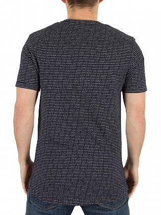 Minimum Dark Navy Oxley Pattern T-Shirt