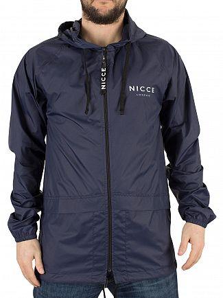 Nicce London Navy Chester Logo Jacket