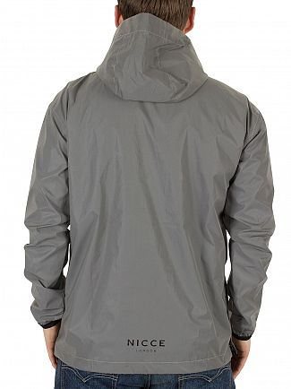 Nicce London Silver Linear Kagoule Half Zip Jacket