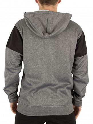 Nicce London Grey/Black Polytech Ela Logo Hoodie