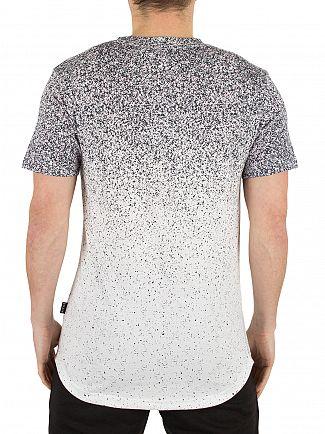 Nicce London White Speckle Fade Print Logo T-Shirt