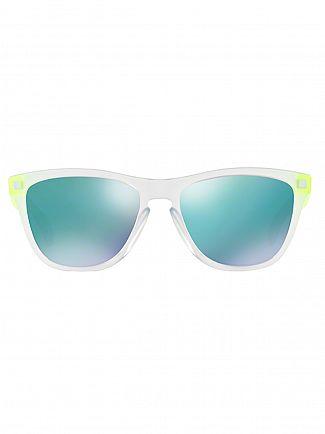 Oakley Matte Clear Matte Uranium/Jade Iridium Frogskins Sunglasses