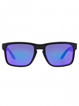 Oakley Matte Black/Violet Iridium Holbrook Julian Wilson Sunglasses