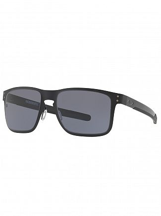 Oakley Matte Black/Grey Holbrook Metal Sunglasses