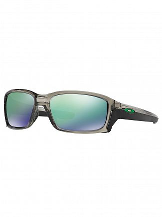 Oakley Grey Ink/Jade Iridium Straightlink Sunglasses