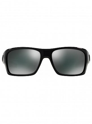 Oakley Polished Black/Black Iridium Turbine Sunglasses