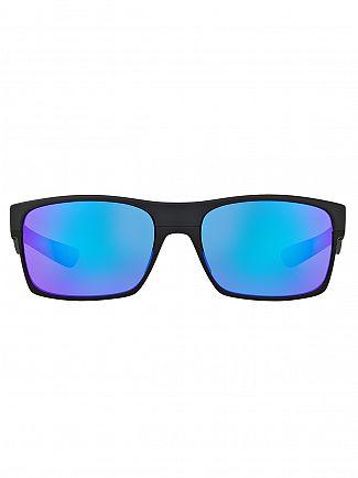 Oakley Matte Black/Violet Iridium TwoFace Sunglasses