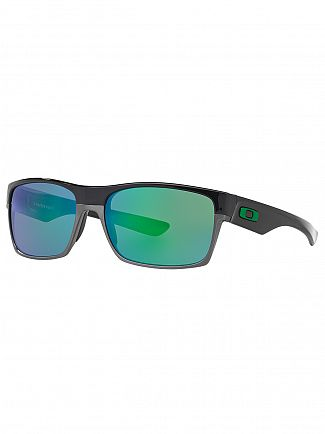 Oakley Polished Black/Jade Iridium TwoFace Sunglasses
