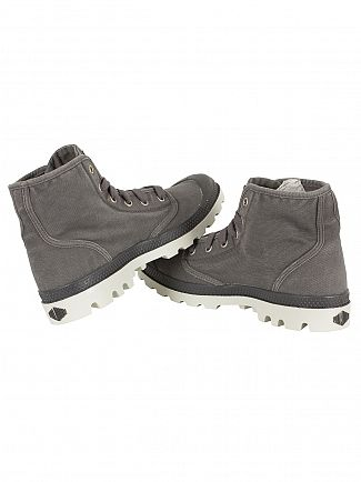 Palladium Pavement/Silver Birch Pampa Hi Boots