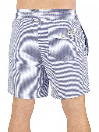 Polo Ralph Lauren Cruise Royal Seersucker Traveller Striped Logo Swimshorts