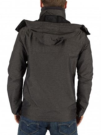 Superdry Black Marl/Black Cliff Emboss Hiker Jacket