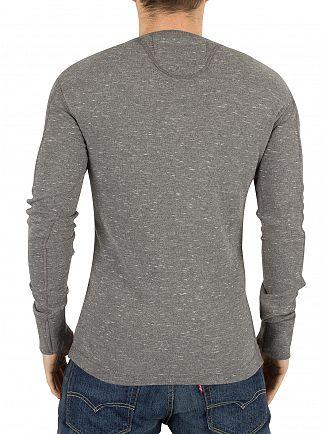 Superdry Grey Nep Heritage Longsleeved Grandad T-Shirt
