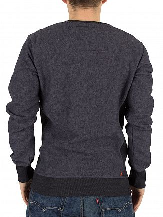 Superdry Midnight Marl Twill Orange Label Logo Sweatshirt