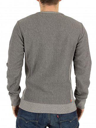 Superdry Mid Grey Twill Orange Label Logo Sweatshirt
