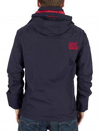 Superdry Nautical Navy/Rebel Red Tech Hood Windcheater Zip Jacket