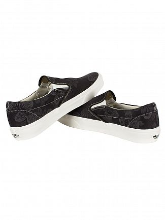Vans Black Floral Jacquard Classic Slip-On Trainers