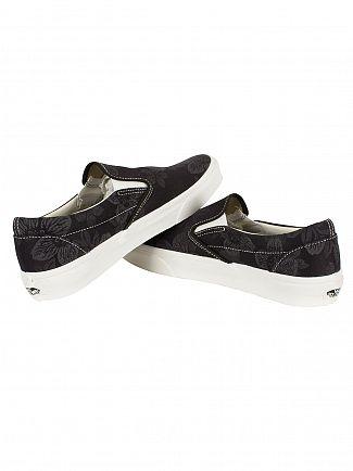 Vans Black Floral Jacquard Classic Slip-On Trainers
