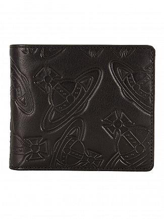 Vivienne Westwood Black Foglio Dancing ORB Wallet