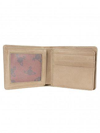 Vivienne Westwood Taupe Foglio Dancing ORB Wallet