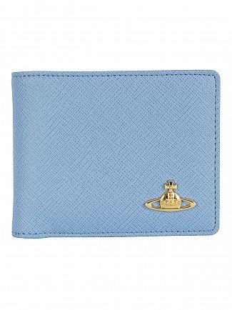 Vivienne Westwood Blue Foglio Saffiano Wallet
