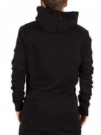 11 Degrees Black Reflective Stripe Logo Hoodie