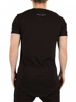 11 Degrees Black Reflective Stripe Logo T-Shirt