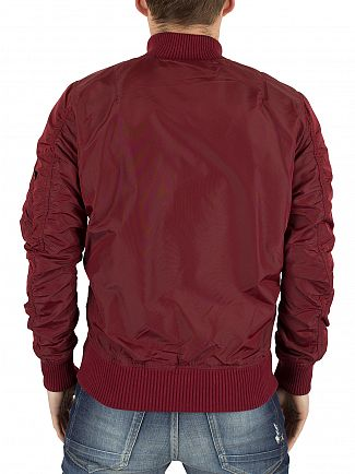 Alpha Industries Burgundy MA-1 TT Bomber Jacket