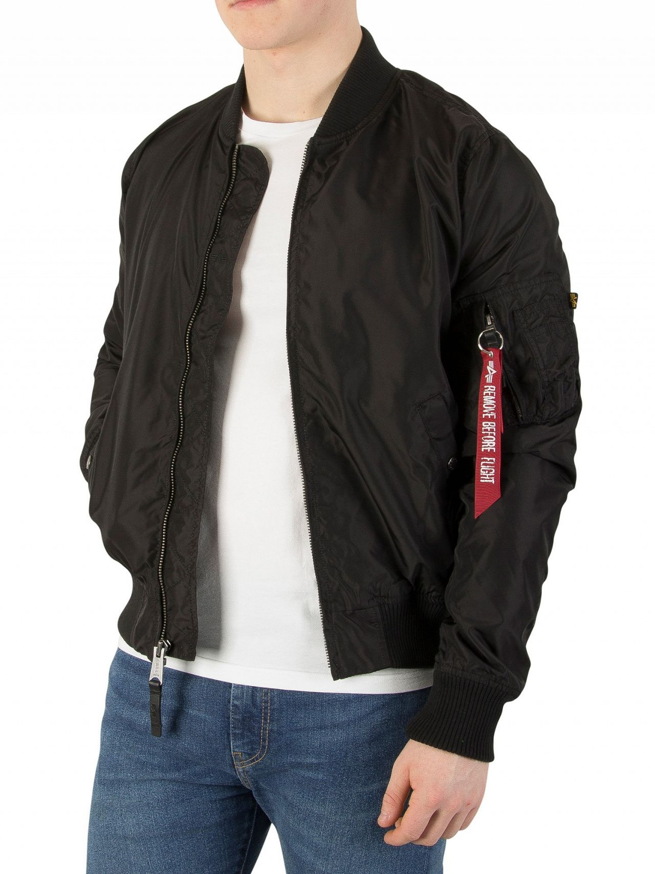 5e7031f1f Alpha Industries Black MA-1 TT Bomber Jacket