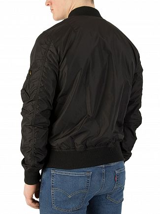 Alpha Industries Black MA-1 TT Bomber Jacket